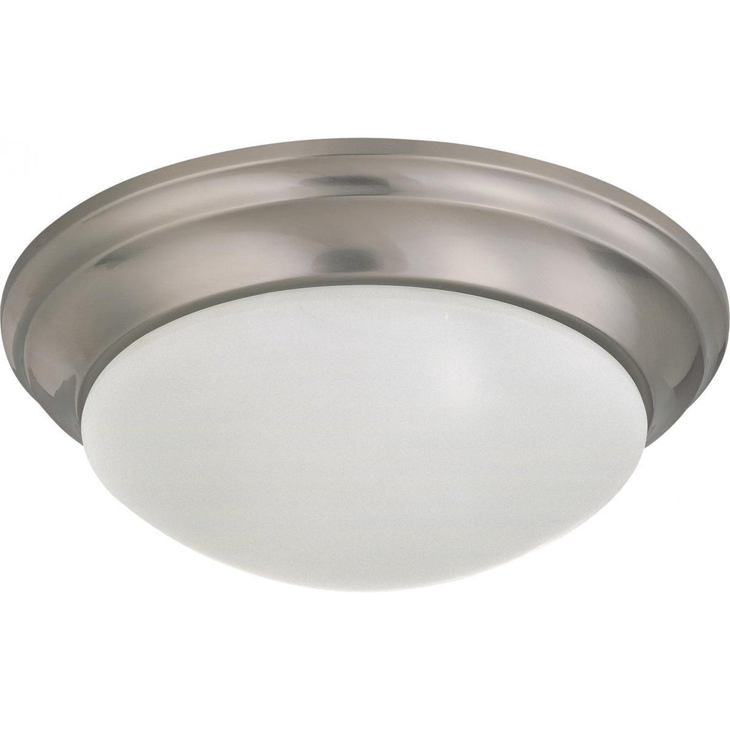 "LED Light Fixture 14"" Flush Mounted Frosted Glass Brushed Nickel Finish 120-277 Volts Ceiling Nuvo Lighting"