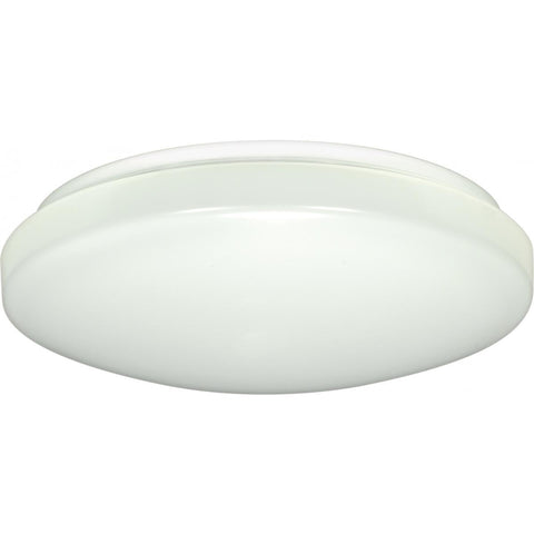 "11"" Flush Mounted LED Light Fixture White Finish 120-277 Volts"