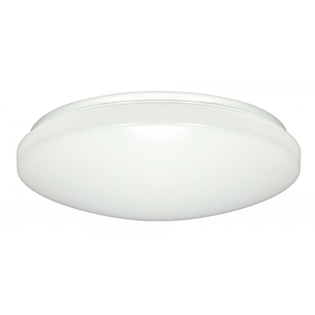 "14"" Flush Mounted LED Light Fixture White Finish 50 Percent Dimming 120-277 Volts Ceiling Nuvo Lighting"