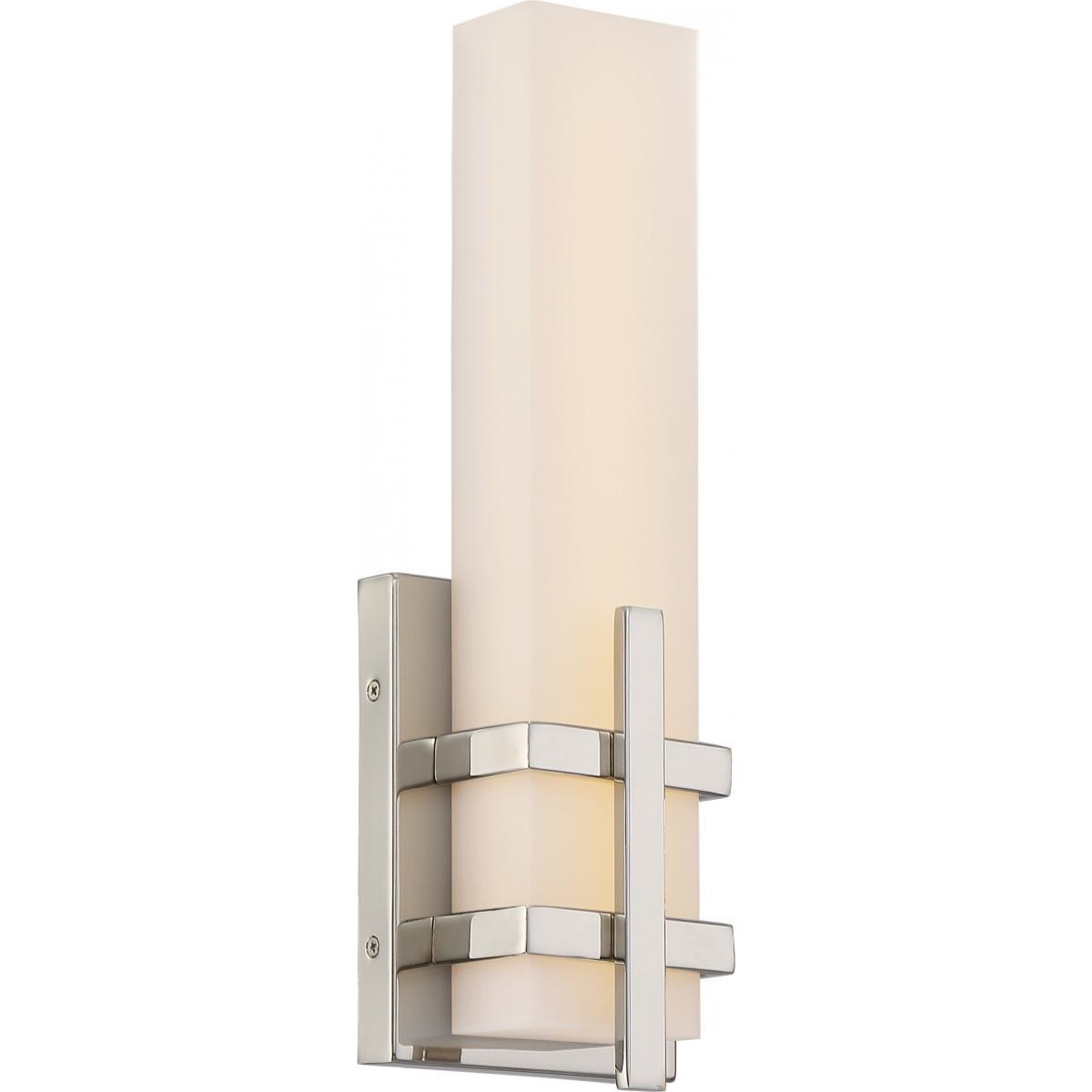 Grill Single LED Wall Sconce Polished Nickel Finish Wall Nuvo Lighting