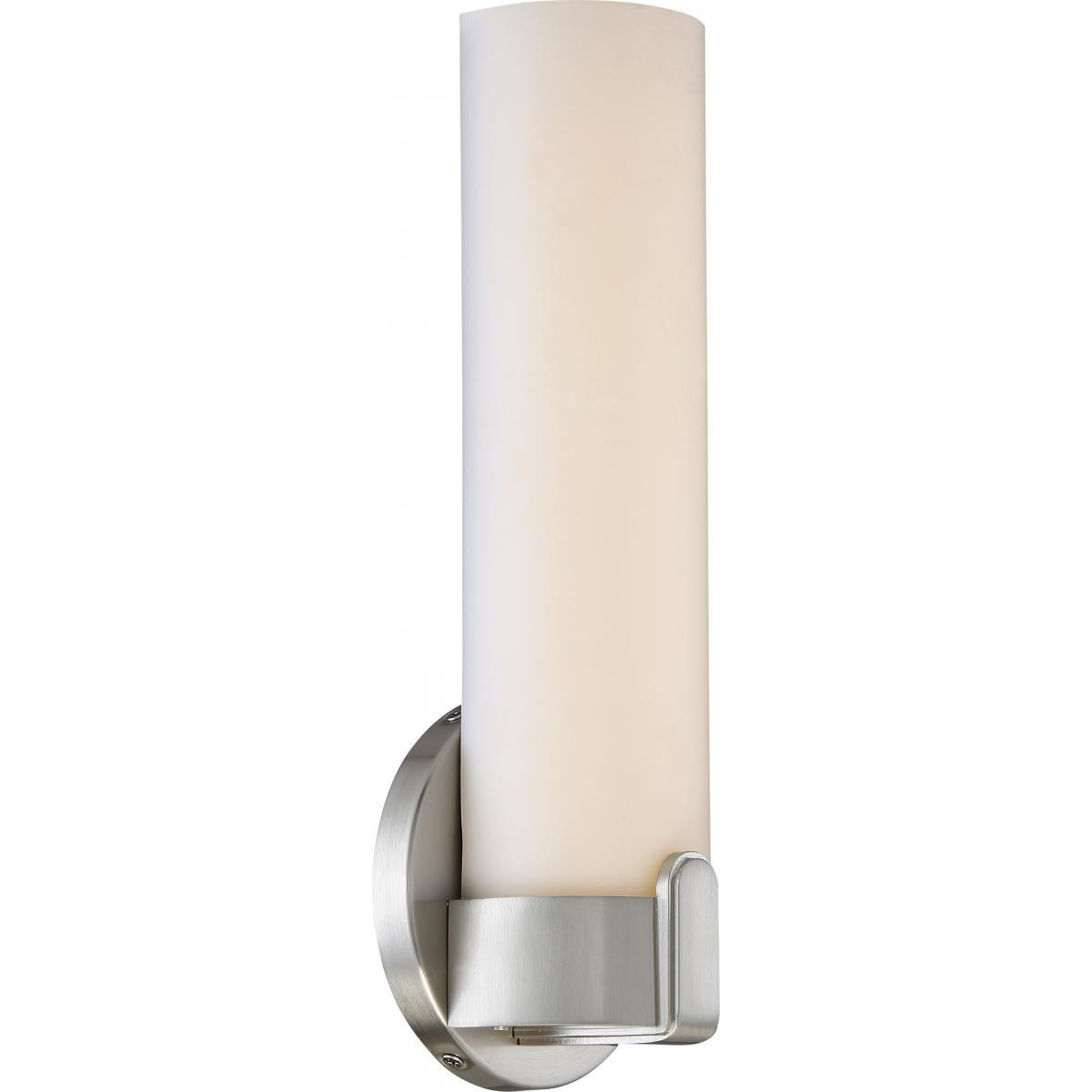 Loop Single LED Wall Sconce Brushed Nickel Finish Wall Nuvo Lighting