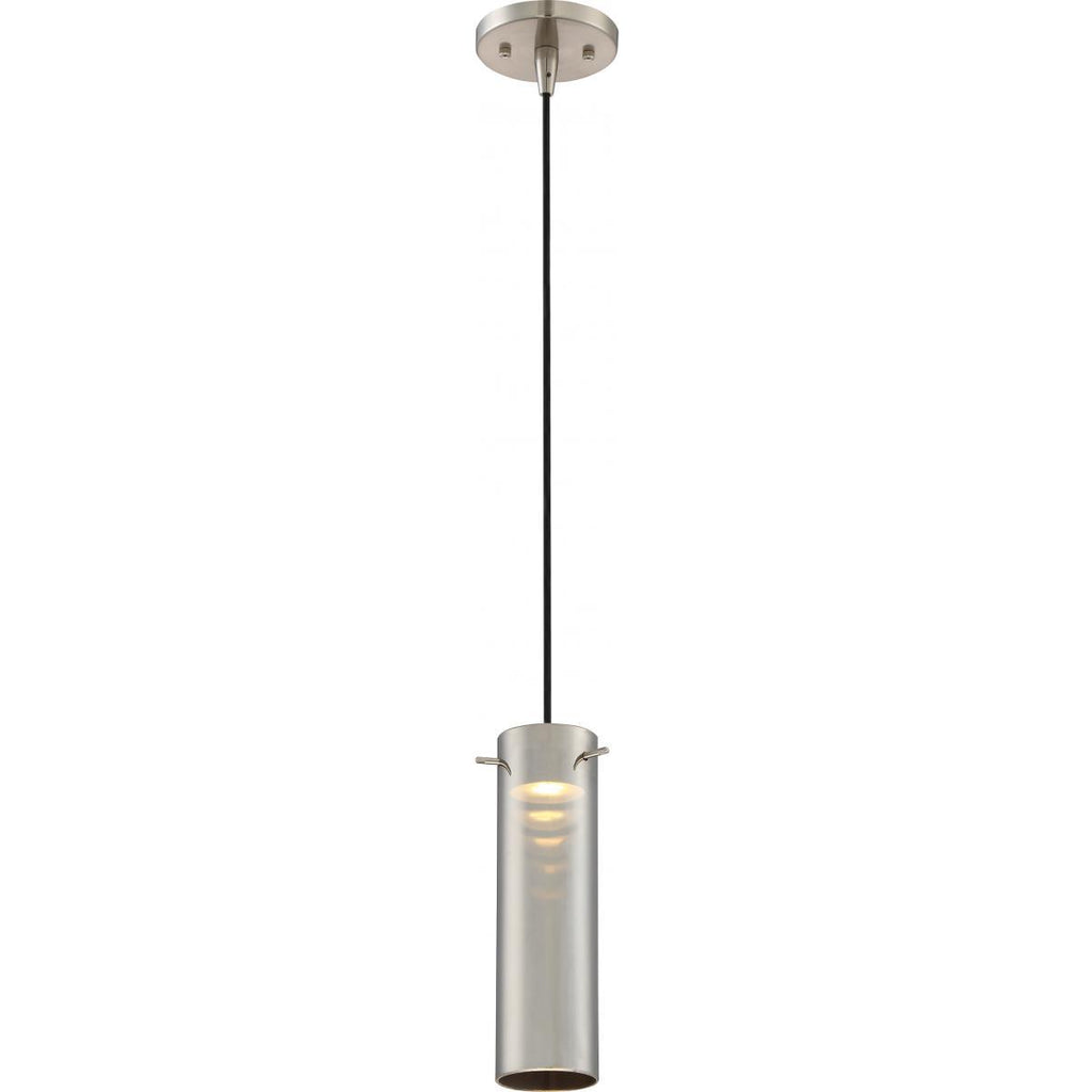 Pulse LED Mini Pendant with Copper Glass Brushed Nickel Finish Ceiling Nuvo Lighting