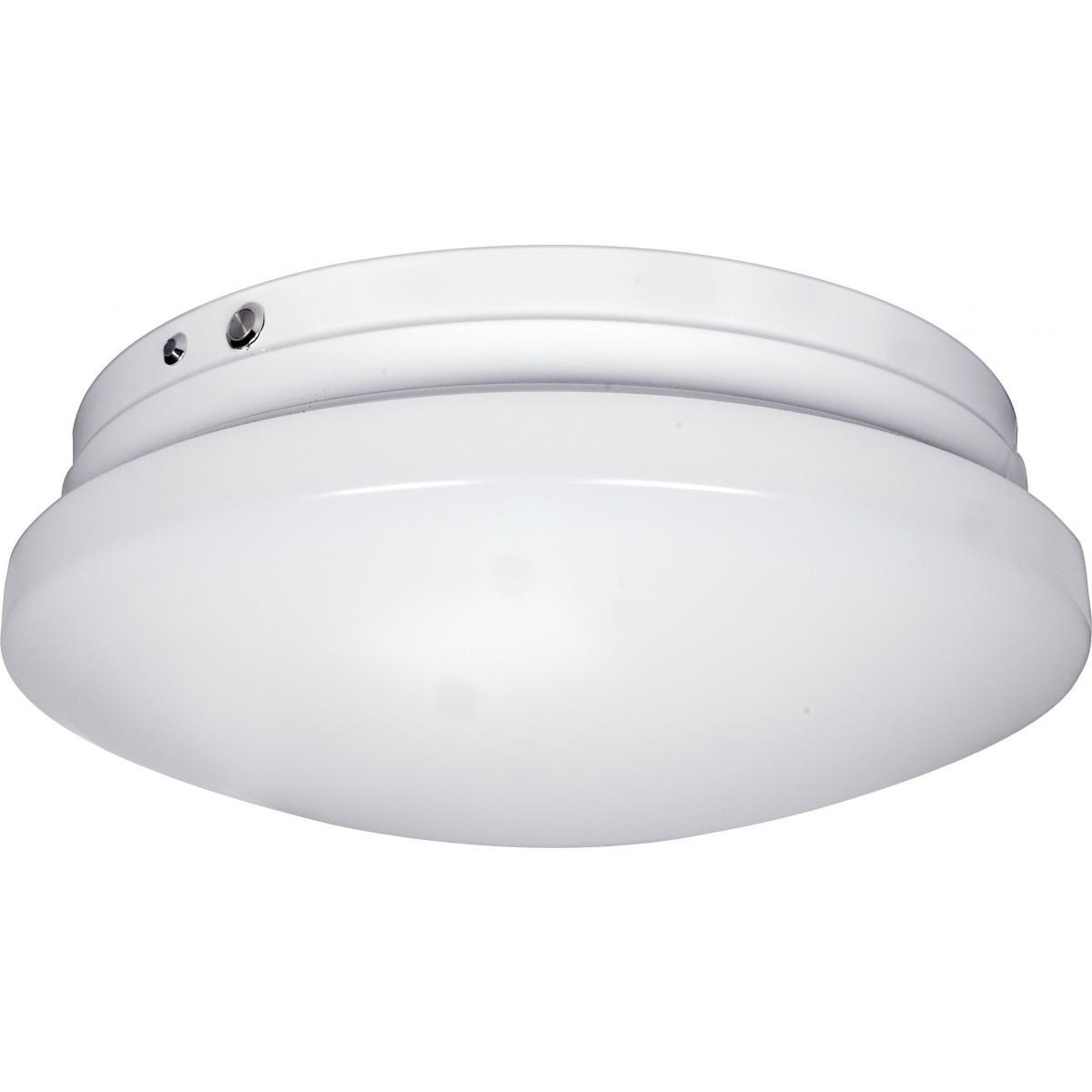 "LED EMR Flush mount fixture Emergency Battery Back-up Ready 14"" Diameter 20 Watt integrated LED module 3000K 120/277 Volts Architectural Nuvo Lighting"