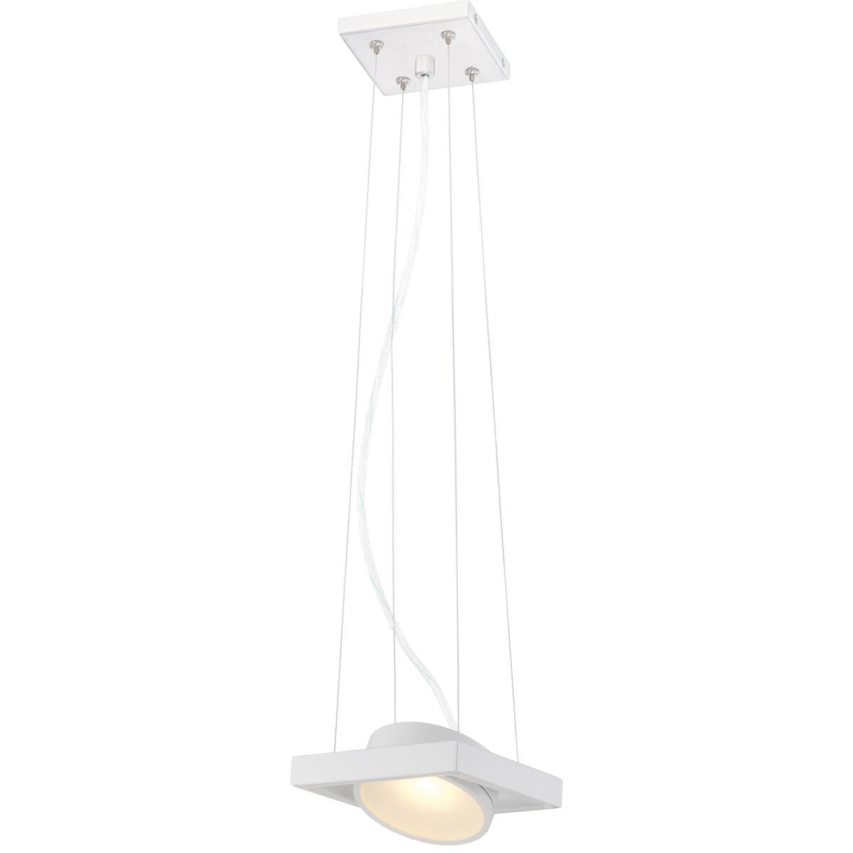 Hawk LED Pivoting Head Pendant White Finish Lamp Included Ceiling Nuvo Lighting