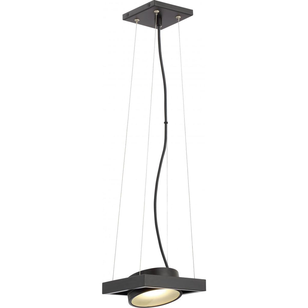 Hawk LED Pivoting Head Pendant Textured Black Finish Lamp Included Ceiling Nuvo Lighting