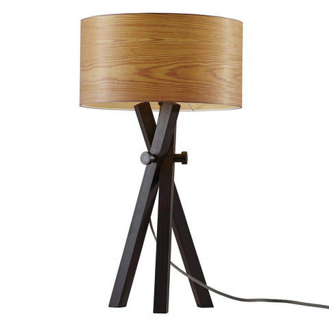 "Bronx 26""h Black Oak Table Lamp"