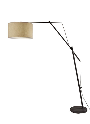 "Broome 83""h Black Arc Lamp Lamps Adesso"