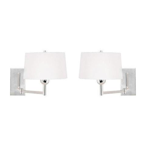 Satin Nickel Swingarm Wall Sconce