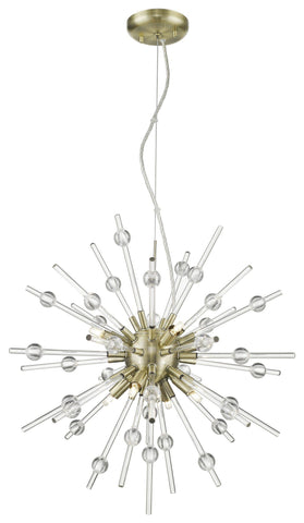 Burst 8 Light Pendant - Antique Bronze (ABRZ) Ceiling Access Lighting