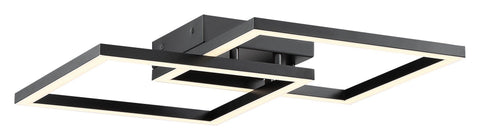 Squared Dimmable LED Ceiling or Wall Fixture - Black (BL)