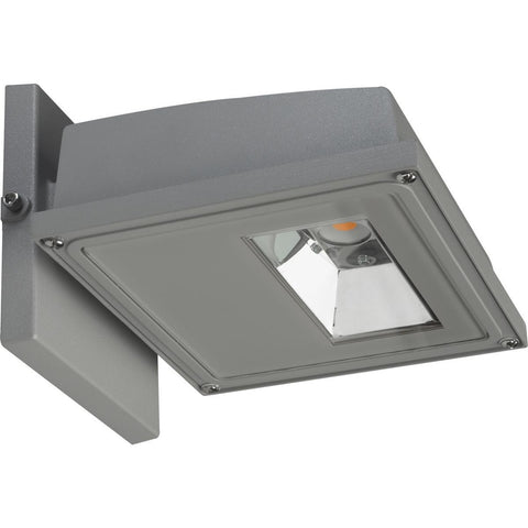 LED Wall Pack Gray Finish 3000K - 120-277V Architectural Nuvo Lighting 11W (1255 Lumens)