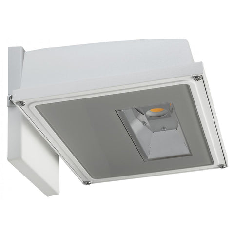 LED Wall Pack White Finish 3000K - 120-277V Architectural Nuvo Lighting 11W (1255 Lumens)