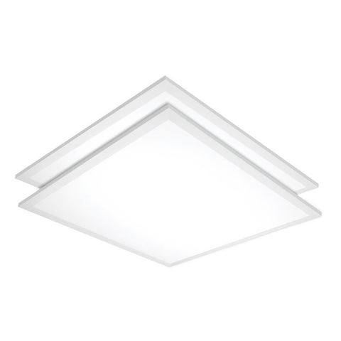 2x2 LED Flat Panel Lay-In Fixture 40W Ceiling Nuvo Lighting 3500K
