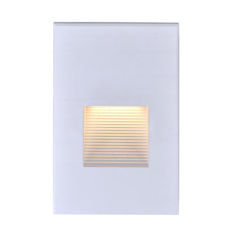 Nuvo Lighting LED Vertical Step Light 3 Watt White Finish 120 Volts 65/405