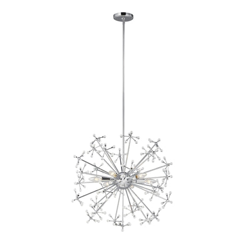 Davi Six Light LED Pendant - Chrome Ceiling Sea Gull Lighting