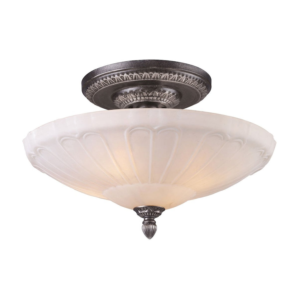 Restoration Flushes 4 Light Semi Flush In Dark Silver Semi Flushmount Elk Lighting