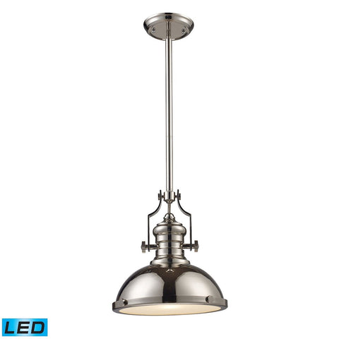 Elk Lighting Chadwick 1 Light LED Pendant In Polished Nickel
