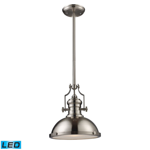 Elk Lighting Chadwick 1 Light LED Pendant In Satin Nickel