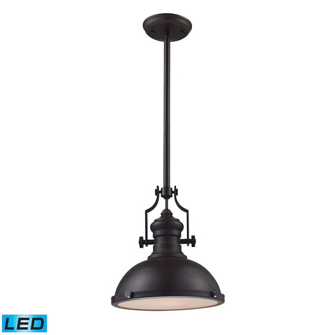 Elk Lighting Chadwick 1 Light LED Pendant In Oiled Bronze