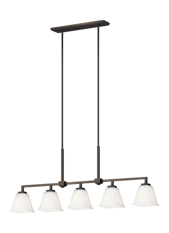 Ellis Harper Five Light Island LED Pendant - Brushed Oil Rubbed Bronze Ceiling Sea Gull Lighting
