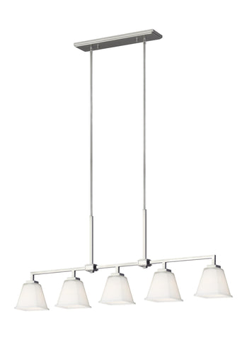 Ellis Harper Five Light Island LED Pendant - Brushed Nickel Ceiling Sea Gull Lighting