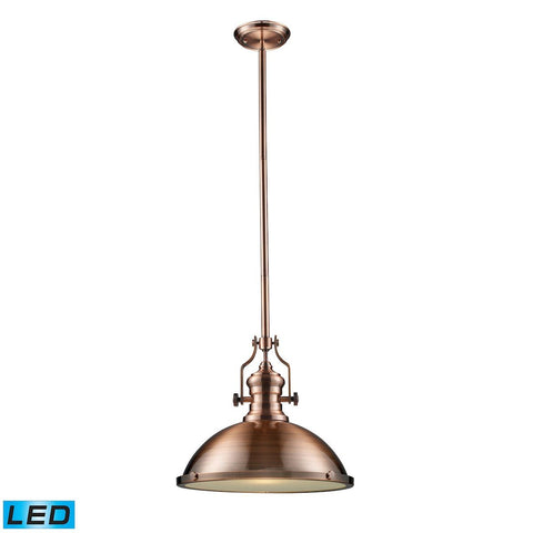 Elk Lighting Chadwick 1 Light LED Pendant In Antique Copper