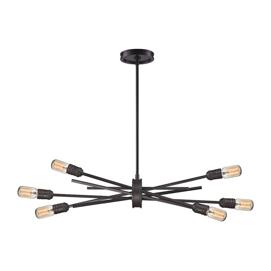 Xenia 6 Light Chandelier In Oil Rubbed Bronze Ceiling Elk Lighting