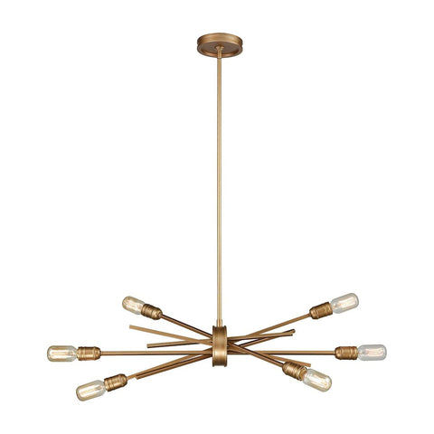 Xenia 6 Light Chandelier In Matte Gold