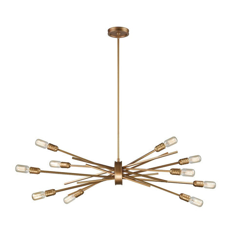 Xenia 10 Light Chandelier In Matte Gold Chandelier Elk Lighting