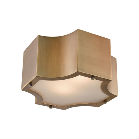 "Gordon 11""w Flush Mount - Classic Brass"