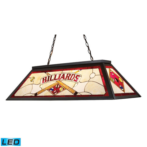 Tiffany Lighting 4 Light LED Billiard Light In Tiffany Bronze Ceiling Elk Lighting