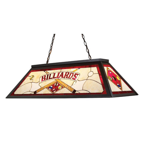 Tiffany Lighting 4 Light Billiard In Tiffany Bronze Ceiling Elk Lighting