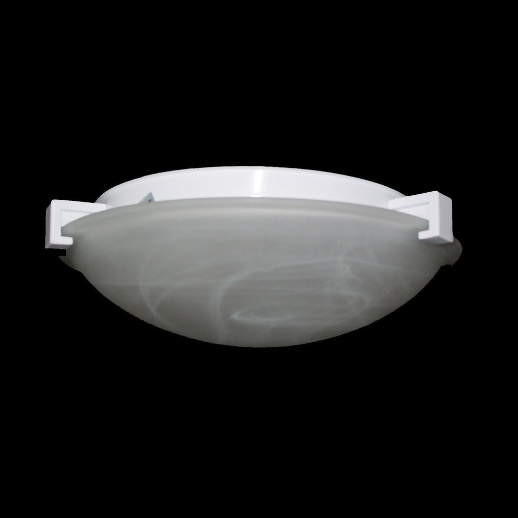 "Nuova 16""w Marbled Glass Ceiling Light - Chrome"