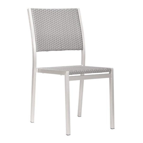 Metropolitan Dining Armless Chair (Set of 2) Outdoor Zuo