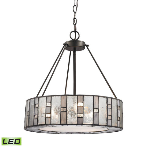 Ethan 3 Light LED Chandelier In Tiffany Bronze