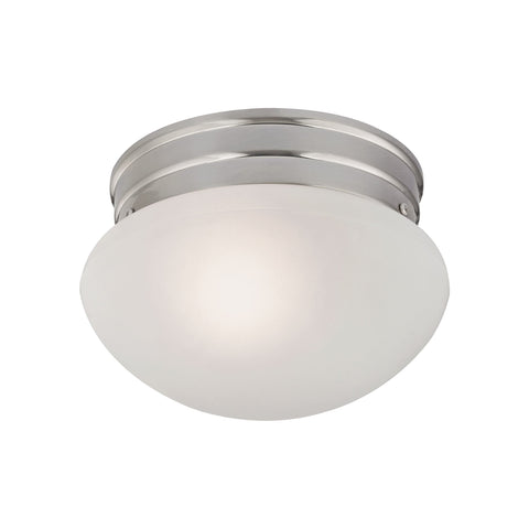 1-Light Mushroom in Brushed Nickel  Thomas Lighting