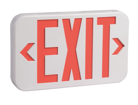 5 Pack Emergency Exit Sign - Red or Green, Single and Double Sided.