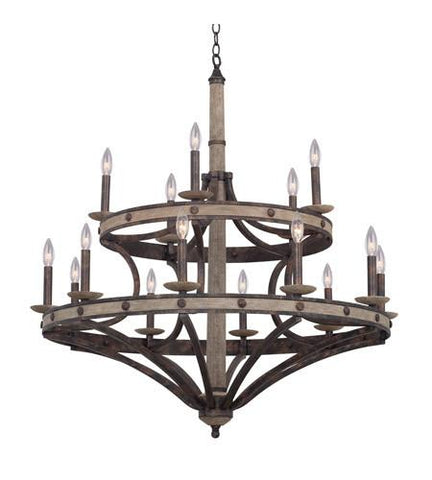 Coronado 15 Light Round Chandelier Ceiling Kalco
