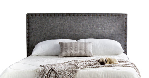 Reina Flax Fabric Full/Queen Headboard Gray