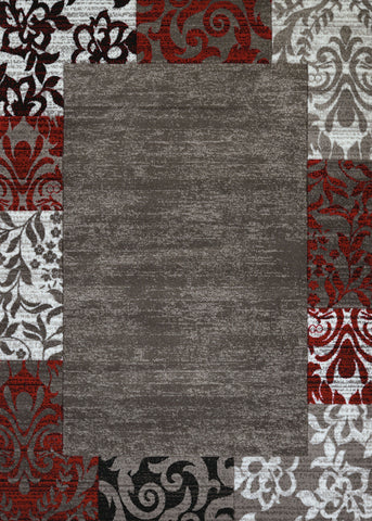 "United Weavers Studio Valence Scarlet Accent Rug 1'10"" X 3'"