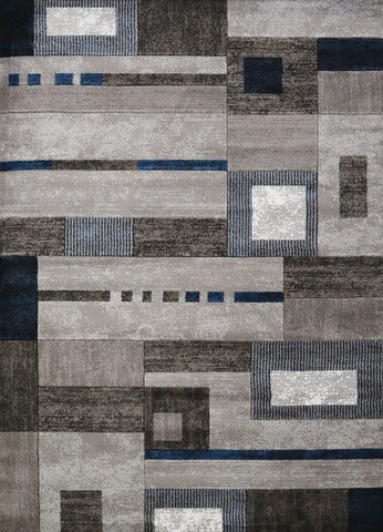 "United Weavers Studio Percussion Denim Blue Accent Rug 1'10"" X 3'"