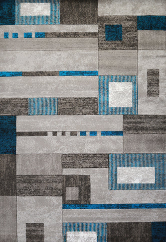 "United Weavers Studio Percussion Aqua Accent Rug 1'10"" X 3'"
