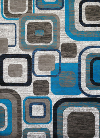 "United Weavers Studio Modem Aqua Accent Rug 1'10"" X 3'"