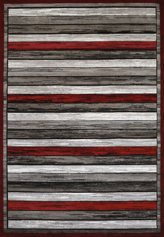 "United Weavers Studio Painted Deck Scarlet Accent Rug 1'10"" X 3'"