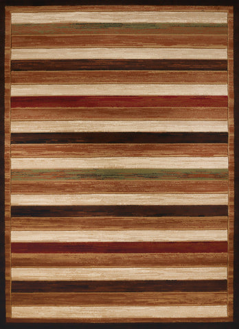 "United Weavers Studio Painted Deck Brown Accent Rug 1'10"" X 3'"