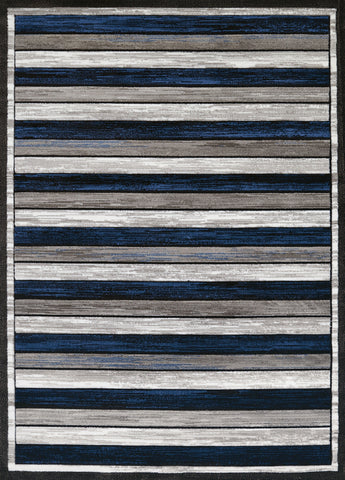 "United Weavers Studio Painted Deck Denim Blue Accent Rug 1'10"" X 3'"