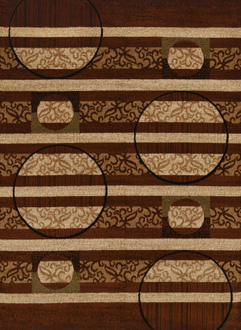 "United Weavers Studio Cymbals Brown Accent Rug 1'10"" X 3'"