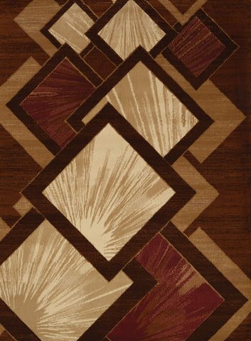 "Studio Flash Brown Accent Rug (4 Sizes) Rugs United Weavers 1'10"" x 3' Mat"