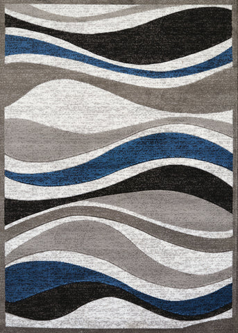 "United Weavers Studio Silica Denim Blue Accent Rug 1'10"" X 3'"