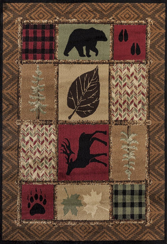 Woodside Hunter's Patchwork Rug - 4 Size Options Rugs United Weavers